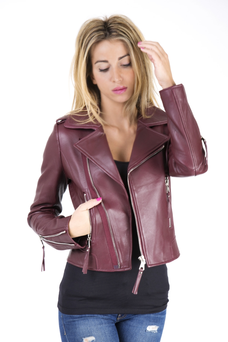 BURGUNDY LEATHER JACKETS PACK JC6058