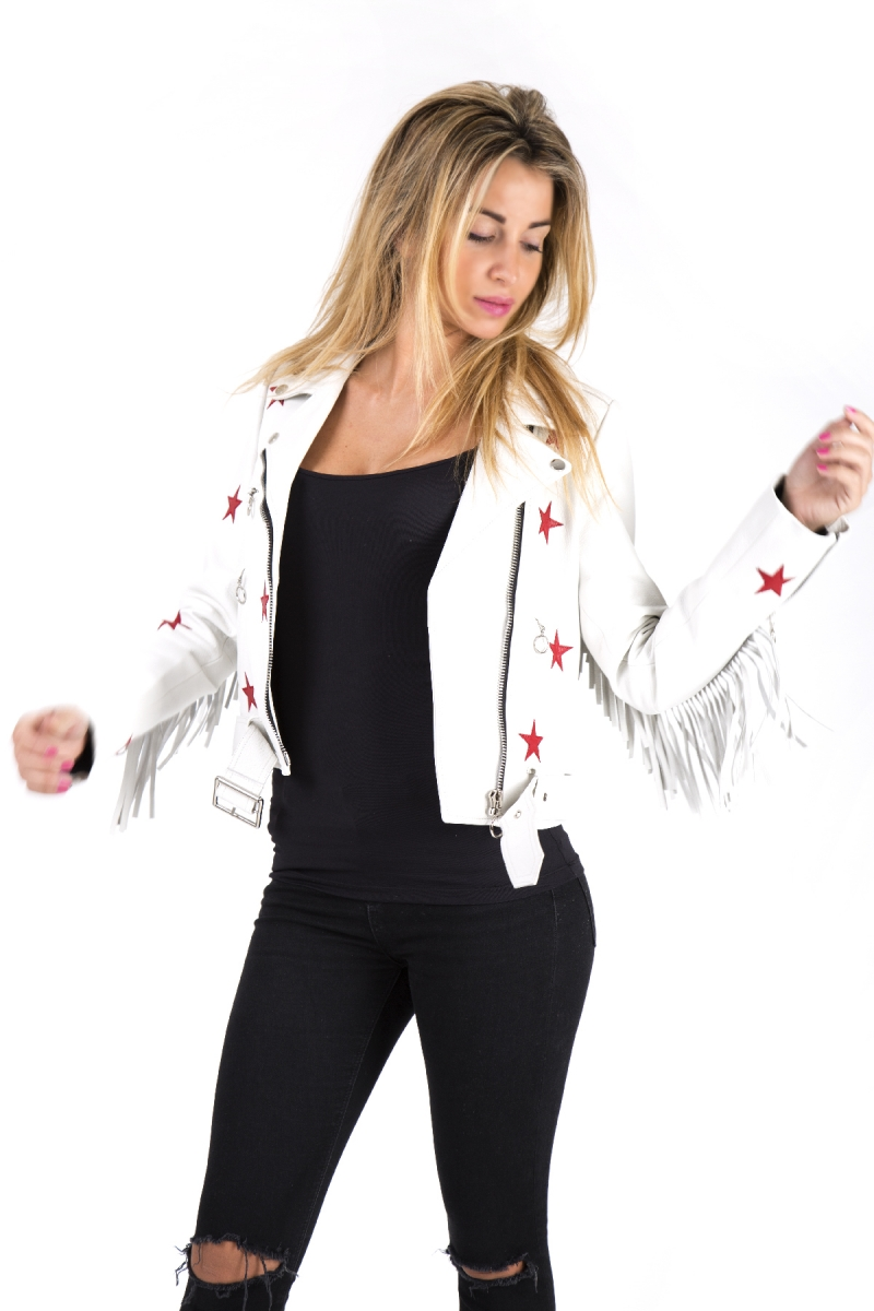 WHITE LEATHER JACKETS PACK JC6056